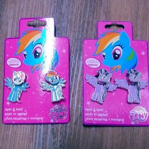 My Little Pony Claire's front back earrings